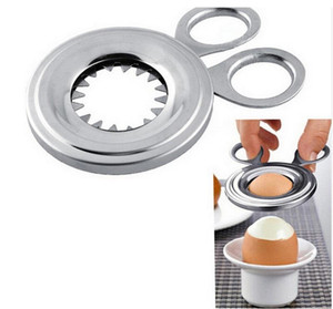 Neue Gekochte Eierschale Topper Cutter Edelstahl Gekochte Eier Schere Bequem Clipper Kochwerkzeug Küche Wesentliche 7 2xf F1