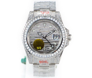 The N9 mechanical mechanical movement ETA2824GMT two watches by 40MM904L steel sapphire crystal glass full diamond watch