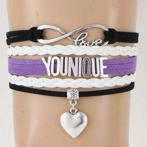 YOUNIQUE Браслеты Браслеты в форме сердца Шарм Плетеные кожаные браслеты