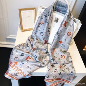 Bufanda de seda del verano para las mujeres marcas para hombre caliente de la tela escocesa bufanda de la manera de las mujeres imitan las bufandas lana de cachemira 180x90cm envío libre