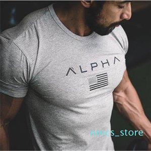 New Casual Fitness T-Shirt Men Fashion Casual Shirt Bodybuilding TShirt Gyms Clothing 100% Cotton Tee Plus Size M-XXXL Wulong