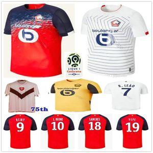 2019 2020 LOSC Lille fútbol jerseys Pepe Remy BAMBA R. LEAO IKONE Lille Olympique 75a personalizada para adultos Niños hogar lejos camiseta de fútbol