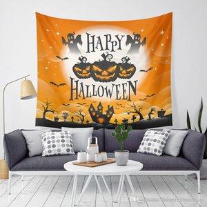 Halloween citrouille Tapestry Halloween Trick Treat Ghost Horreur Tenture Tapisserie Partie à la maison Décoration murale Canapé tapisserie BH2406 T