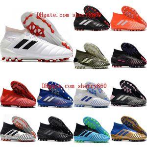 качество топ 2020 мужские футбольные бутсы Predator 19,1 AG футбол утки недорогие бутсы SCARPE калсио высокой лодыжки