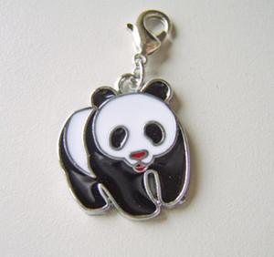 خمر فضيات المينا الدب الباندا PRINCESS CROWN مرساة ملاك البومة اسمع كليب السحر المعلقات لصنع المجوهرات أساور Z2351