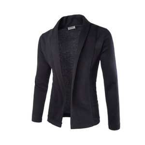 Мода Красивый V-образным вырезом свитер пальто кардиган свитер мужчины сплошной цвет тонкий мужской кардиган свитер пальто человек кардиган для мужчин бесплатная горячая распродажа