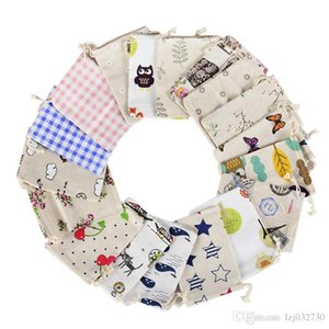 Wholesale 10*14cm bundle pockets, cotton and linen hollow sachets, jewelry, gift wrapping, linen Sachets 100PCS A199