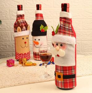 Noel Şarap Şişe Kapağı 3 Stiller Noel Baba Dekorasyon yemeği partisi Kırmızı Şarap Kapak Çanta Noel Şişe Kapağı OOA7271-2