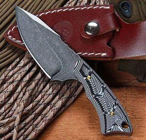BOKE PE558 G10 Manija 58 Cuchillo de espiga completa Cuchillos de caza de supervivencia para acampar Cuchillos fijos para herramientas múltiples herramientas de engranajes para exteriores ¡Alta calidad!