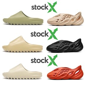 Stock X Cheap Foam runner kanye west clog sandal triple black white fashion slipper women mens tainers designer beach sandals slip-on shoes