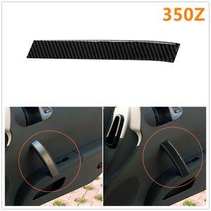 Voiture en fibre de carbone côté passager Porte Copilote Position panneau de poignée Refit autocollant décoratif pour Nissan 350Z Z33 2006-2009
