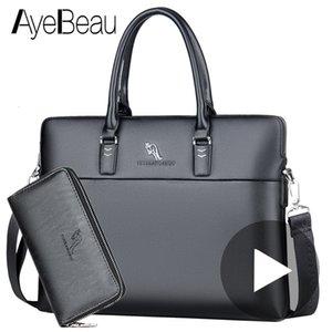 Black Work Hand Business Office Male Messenger Bag Men Briefcase For Document Laptop Computer Handbag A4 Partfel Portfolio 2019MX190905