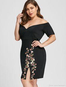 Deisgner Kleid der Frauen Art und Weise gedruckte plus Größe Kleider der beiläufigen Frauen Strickrock