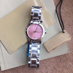 26MM 드레스 쿼츠 배터리 여성 시계 시계 부드럽고 조용한 여성용 손목 시계 316L 실버 스테인레스 스틸 팔찌 핑크 다이아몬드 다이얼