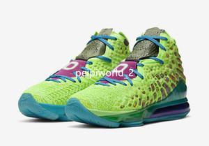Kutu Üst Kalite 17 Space Jam Spor Ayakkabıları ile 2020 Yeni Lebrons XVII 17 AS All Star Promosyon Mr Swackhammer Yeşil Basketbol Ayakkabıları