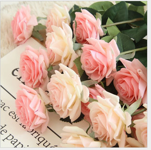 30pcs MOQ singole Davvero tocco lattice artificiale della Rosa del fiore per le vacanze festa di compleanno decorazione falso matrimonio Roses accessori per la casa