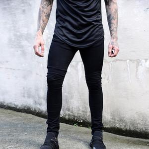 MoneRffi Erkek Kot 2019 Bahar Rahat Fit Kalem Pantolon Düz Yüksek Streç Ayak Skinny Jeans Erkekler Siyah Sıcak Satmak Erkek pantolon