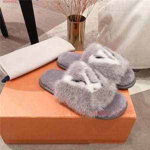 Louis Vuitton flip flop Hococal Vison Flat Femmes Pantoufles avec souple Suite plat Mulets Dreamy Chaussons Femmes Marron Rose Noir Homey Chaussures