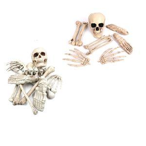 Halloween Prop Figurine De Crâne Humain En Plastique Réel Pour Halloween Party Décoration Home Garden Horror Prop JK1909