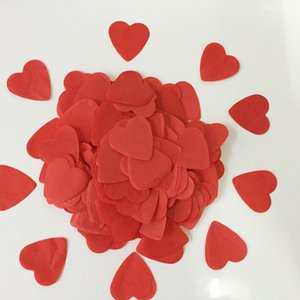 1000pcs Wedding Confetti Love Heart Shape Tissue Paper Red White Colors Wedding Decoration Birthday Decorative Party Supplies
