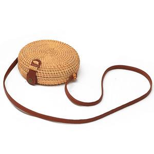 Sacs ronde de paille de bourse nouvelle mode d'été en rotin sac main tissé plage Cercle Bohème de Sac à bandoulière EJY331