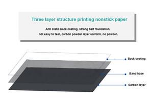 Rubans d'impression appropriés pour le papier couché, ruban adhésif double adhésif, des étiquettes, du papier synthétique PP, du carton, et toutes sortes d'étiquettes de factures.