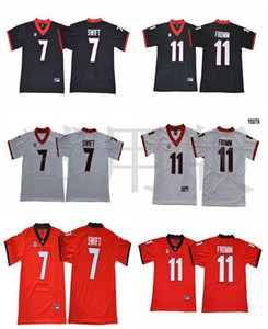 Maglie Georgia Bulldogs 7 D'Andre Swift Jersey 11 Jake Fromm 1 Sony Michel 27 Nick Chubb 10 Eason Football College Maglie cucite su misura