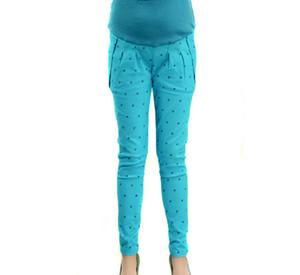 Pantaloni skinny maternity skinny fit skinny fit da donna Pantaloni casual a gamba sottile con stampa gattino in cotone