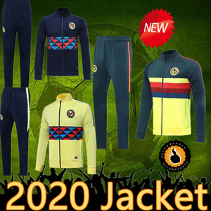 Top qualité 19 20 Mexique LIGA MX 2020 pantalon veste Club America maison de survêtement de football à l'extérieur 2019 vestes de costume de formation de football Club America