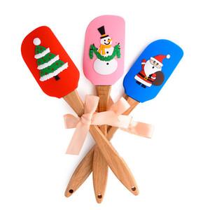 عيد الميلاد سيليكون أداة البسط الغذاء الصف سيليكون مكشطة زبدة عيد الميلاد كعكة الزفاف كريم زبدة ملعقة الصيدلي عيد الميلاد مطبخ زبدة مكشطة