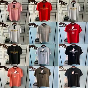 2020 Balmain Männer Designer-T-Shirt Sommer-Freund Männer Frauen T-Shirt Qualitäts-Schwarz-Weiß Orange T-Shirt T-Shirts Größe XS-2XL