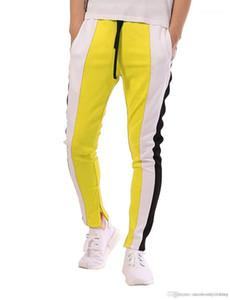 Pantolon spor rahat genç Pantalones renk Patchwork tasarımcı Jogger pantolon Mens Moda Giyim için