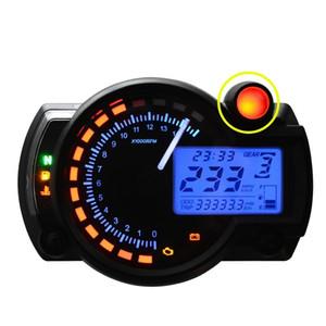 새로운 올인원 오토바이 주행 속도계 속도계 타코미터 게이지 RPM 15000 범용 LCD 디지털 키트