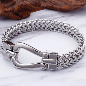 Men Bracelet Stainless Steel Casting Best Friends Armband Mens Jewellery Accessories 11MM Thick Chain Friendship Bracelets Man