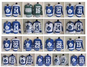 Toronto Toronto Maple Leafs Jersey 14 Dave Keon 16 Darcy Tucker 31 Concessão Fuhr 17 Wendel Clark Potvin Gilmour Williams 21 Salming Hóquei CCM