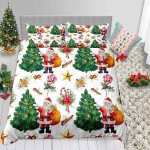 Bettwäscheset Christmas Series Perfect Gift Bettwäscheset King Twin Queen Size mit Weihnachtsmann von Bed Cover Suit