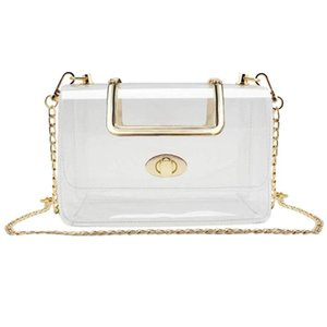 Aelicy transparente bolsa transparente del bolso de hombro de lujo bolsos de las mujeres del hombro del PVC Claro T25 jalea pequeño bolso de Shell