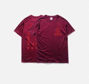 mens t shirts summer i feel like pablo Tee short Sleeve O-neck T Shirt Kanye West Letter Print casual tees male clothing plusdd64#
