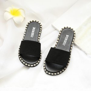 Summer PU Leather baby slippers for girl Solid Color Kids Infants Baby Girls Candy Color Flat Slipper Casual Shoes chanclas niña