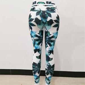 2020 Hot Printing Women Yoga Pants High Waist Fitness Leggings Running Gym Pants Women Green Sporting Workout Quick Dry Trousers