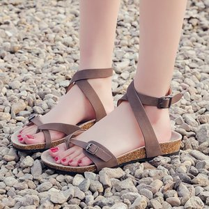 summer sandals women shoes flat Gladiator Women Pumps Slippers Beach Cross Straps Roman Plat with buty damskie