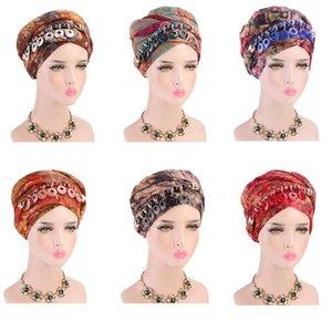 Mode perles Pendentif Bijoux Bohème Multifonctionnel #Neuf Imprimé en mousseline de soie Echarpe femme islamique musulmane Hijab Turban