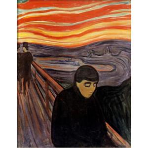 Yüksek kaliteli Edvard Munch Resimlerinde Umutsuzluk modern soyut sanat El boyalı
