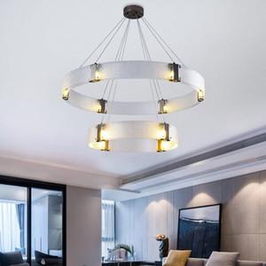 Postmodern living room chandelier simple creative bedroom bar counter restaurant light  glass lamp 220V Up&down