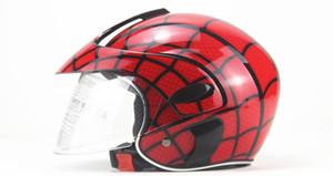 Casco cabritos del niño de la motocicleta Medio casco de dibujos animados ABS Electric Vehicle Safety Moto engranaje del bebé niña de cuatro Casco temporada