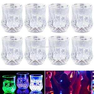 Detección LED parpadeante tallado piña Tazas LED inductivo color del arco iris de luz intermitente resplandor del partido para las tazas de cerveza Stein de la taza del vino
