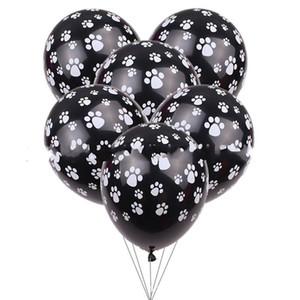 الكلاب مخلب الطباعة بالون 12 بوصة عيد الطفل تزيين airballoon اللثي البالونات أسود أبيض جديد وصول 14 5xt c1