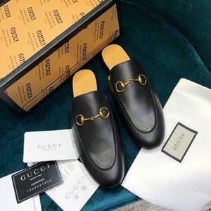 partito High-end delle donne di lusso fashionDesigner s guida scarpe casual senza Legatura dei merletti mocassini scarpe mezzo pantofole donne della piattaforma s NRTE