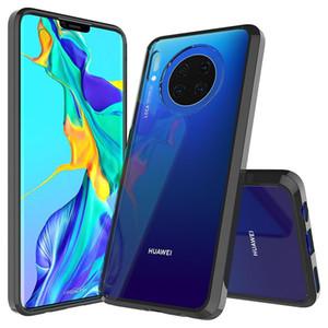 Transparent Acrylique cas pour Huawei Maté 30 P30 Pro Lite Nova 5T Honor 20 Y7 2019 P Smart Z Couverture