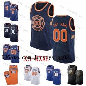 Yeni Porzingis Mason Özelleştirilmiş YorknbaKnicksÖzel Erkekler Kadınlar Kid Adı Sprewell Johnson Numara Basketbol Jersey Knox Barrett